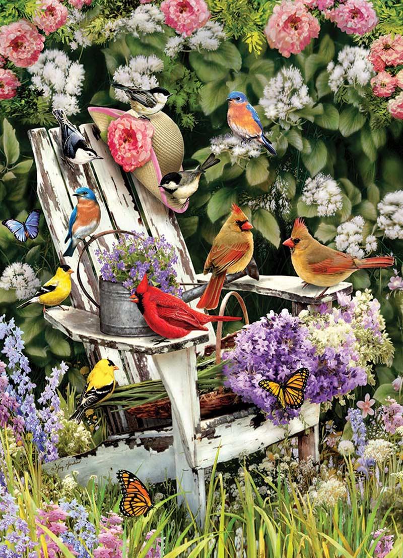 Summer Adirondack Birds Birds Jigsaw Puzzle