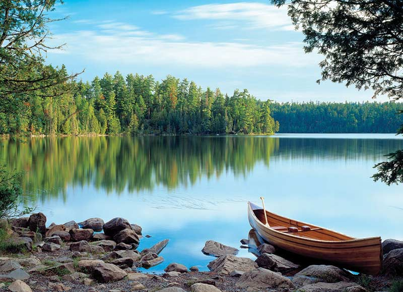 Nature's Mirror Boats Jigsaw Puzzle