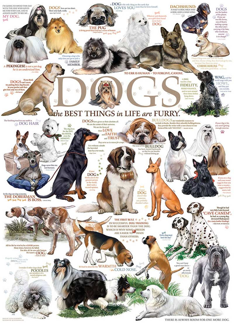 Dog Quotes Dogs Jigsaw Puzzle