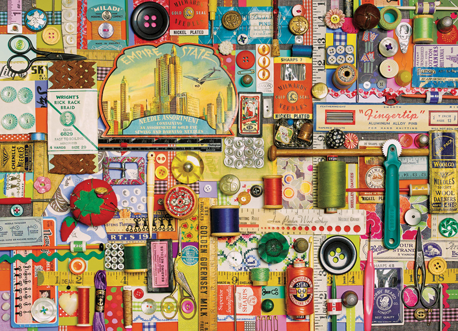 Sewing Notions Crafts & Textile Arts Jigsaw Puzzle
