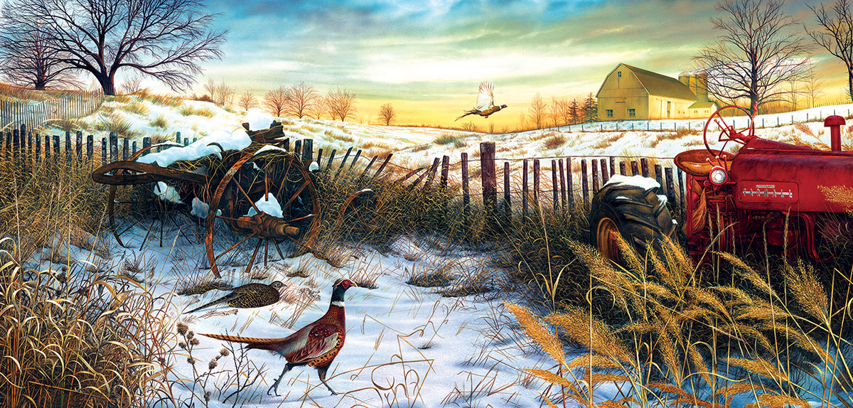 Winter Awakening Farm Jigsaw Puzzle
