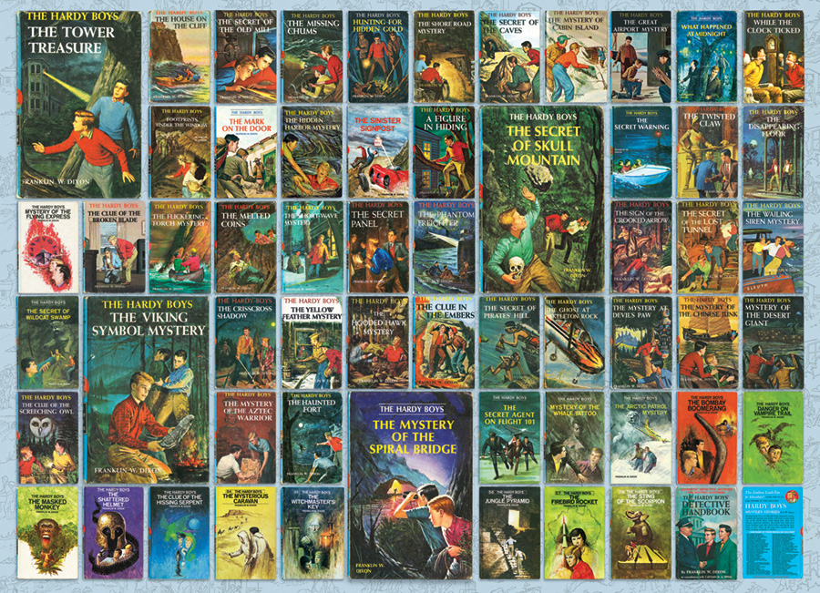 Book Cover Collage Games : Hardy boys jigsaw puzzle puzzlewarehouse