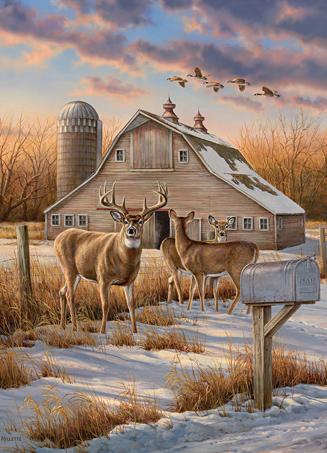 Rural Route Animals Jigsaw Puzzle