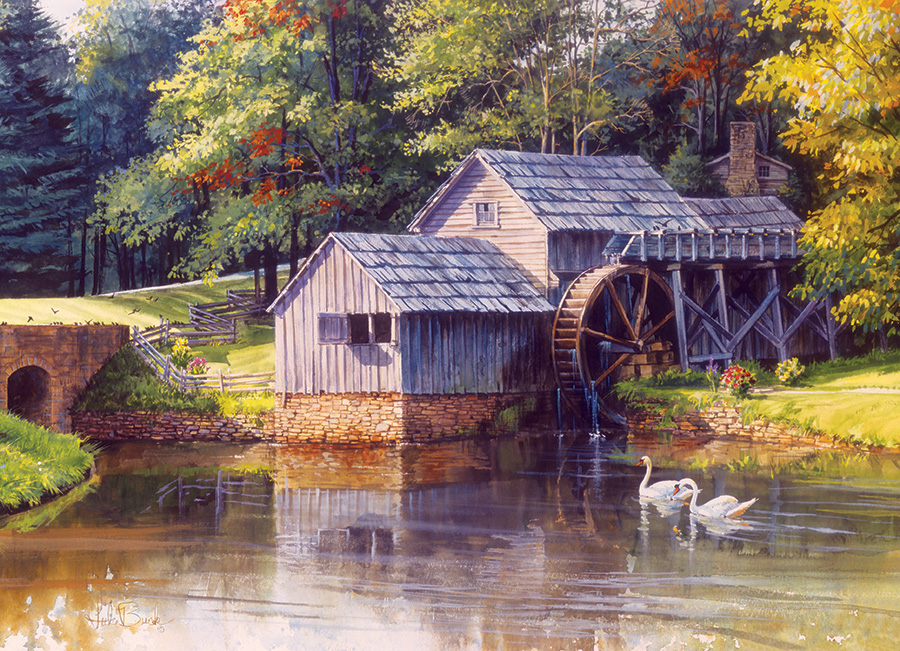 Mabry Mill Birds Jigsaw Puzzle