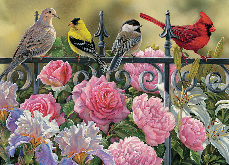 Birds On A Fence Jigsaw Puzzle Puzzlewarehouse Com