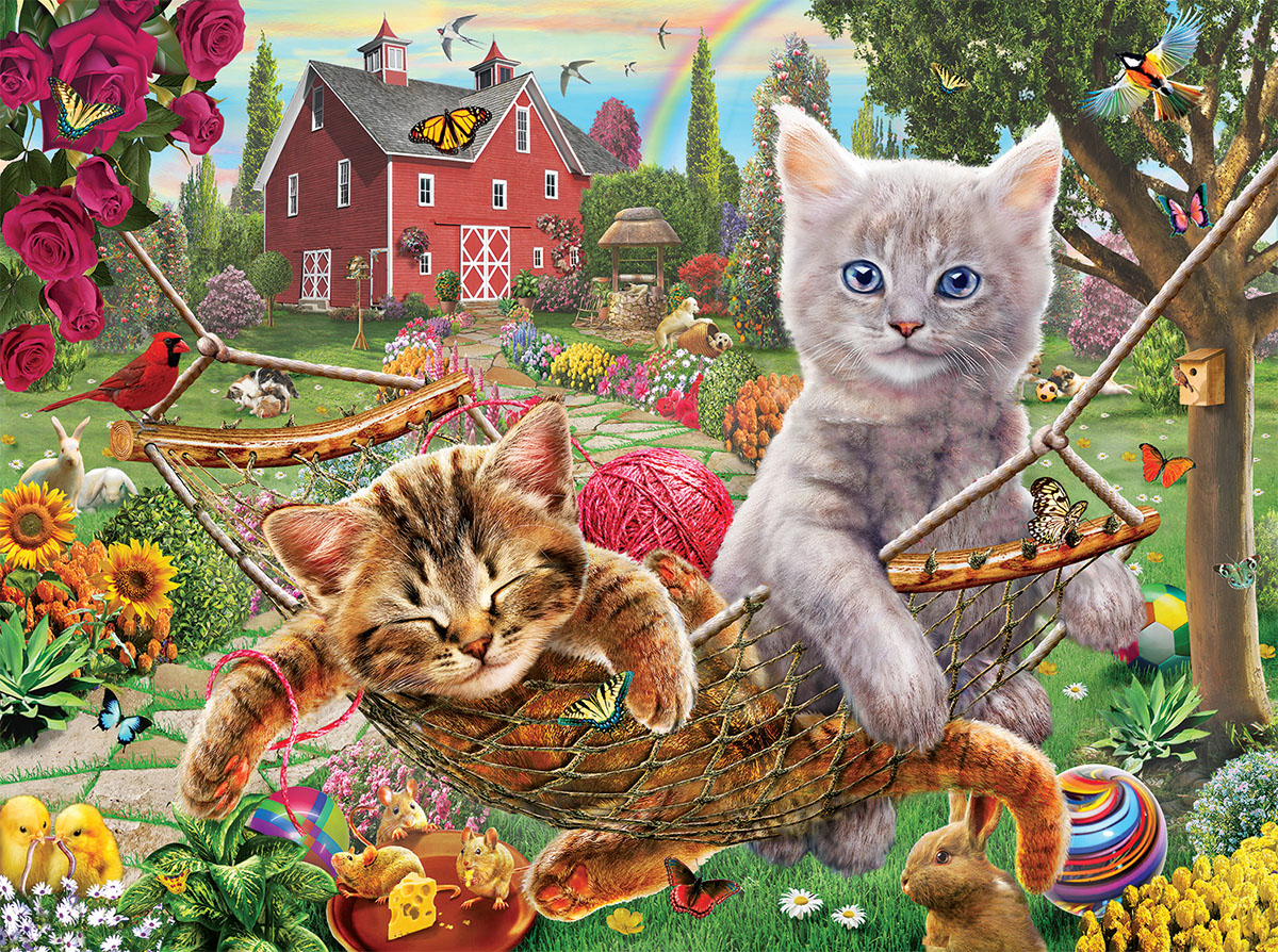 Cats on the Farm Farm Jigsaw Puzzle
