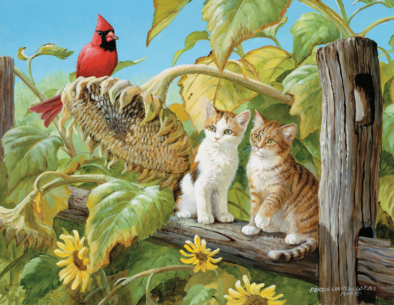 Harvest Time Cats Jigsaw Puzzle