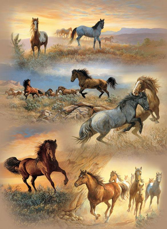 Horse Cameos Horses Jigsaw Puzzle