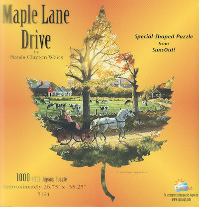 Maple Lane Drive Fall Jigsaw Puzzle
