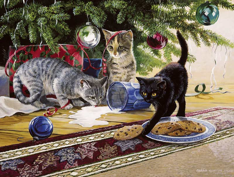 Santa's Helpers Cats Jigsaw Puzzle