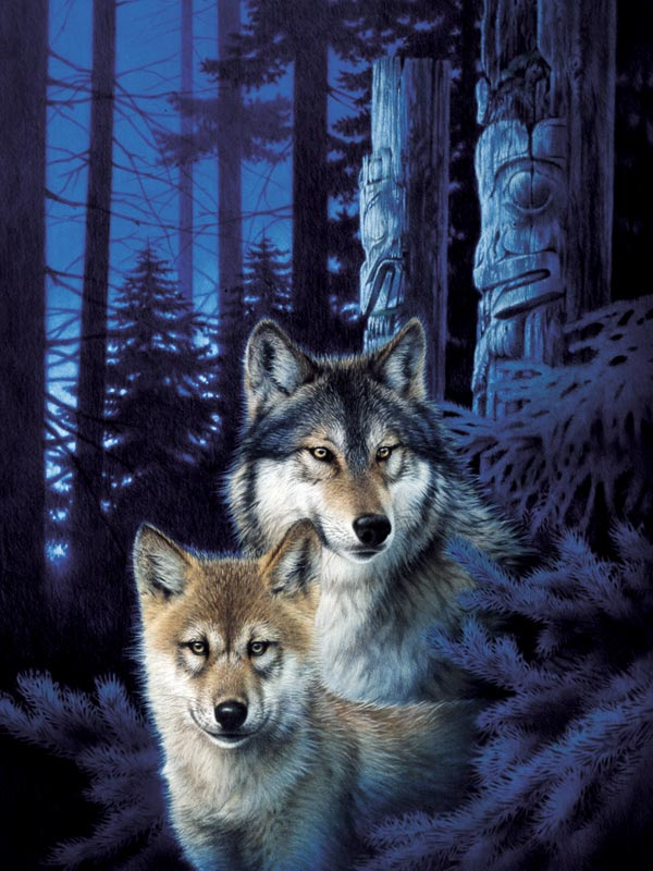 Wolf Canyon Wolves Jigsaw Puzzle