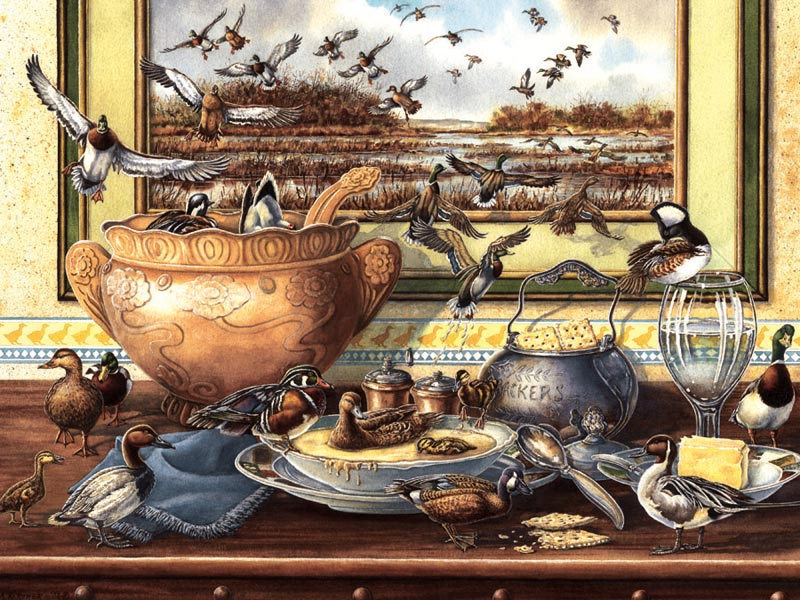 Soup & Quackers Birds Jigsaw Puzzle