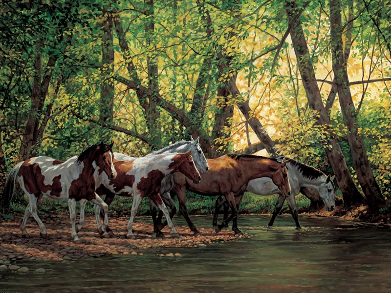 Shady Creek Horses Father's Day Jigsaw Puzzle