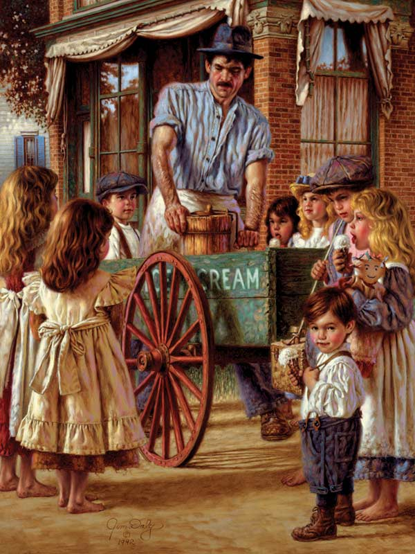 Ice Cream Peddler Mother's Day Jigsaw Puzzle
