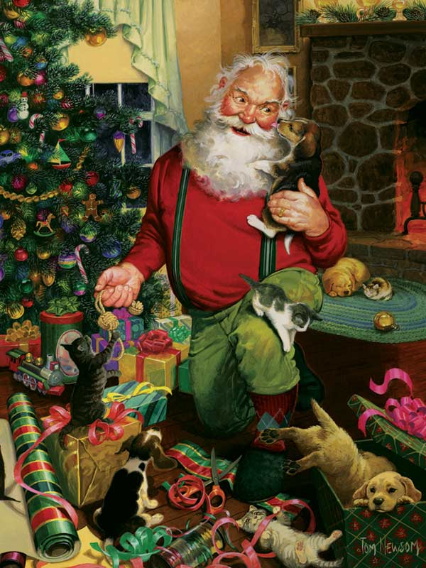 Santa's Cats and Dogs Cats Jigsaw Puzzle