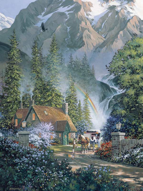 Mountain Hideaway Mother's Day Jigsaw Puzzle