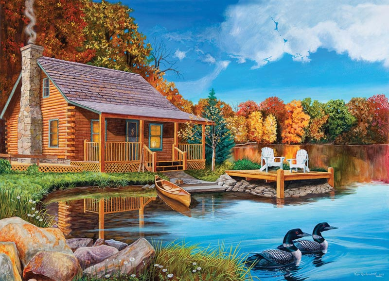 Loon Lake Fall Jigsaw Puzzle