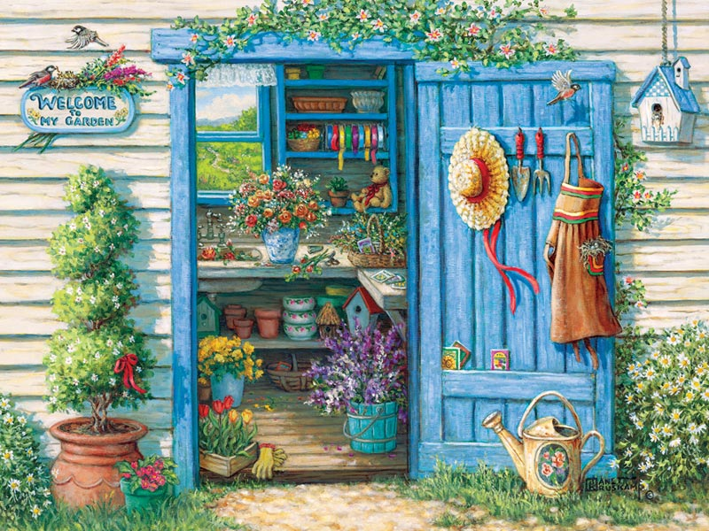 Welcome to My Garden Garden Jigsaw Puzzle