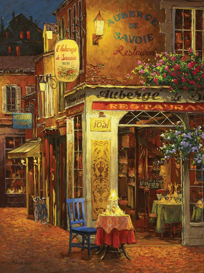 Auberge De Savoie - Scratch and Dent Street Scene Jigsaw Puzzle