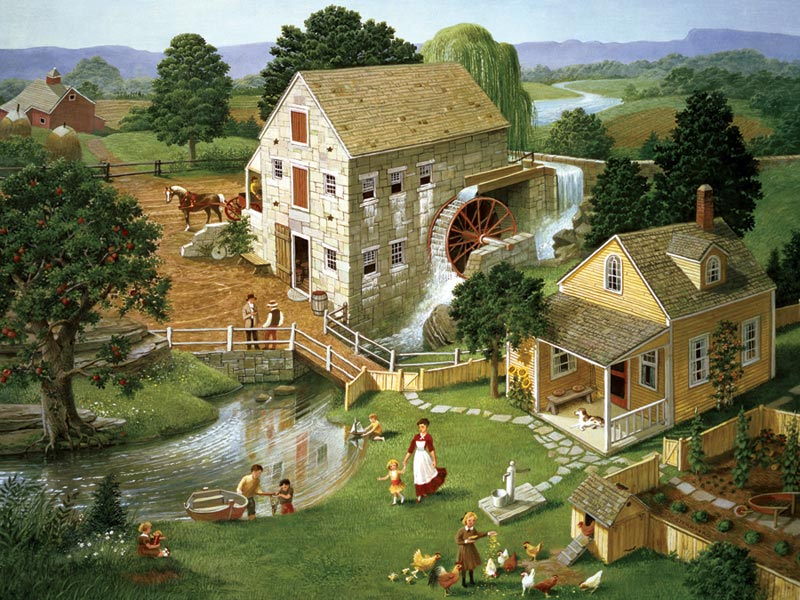 Four Star Mill Countryside Jigsaw Puzzle