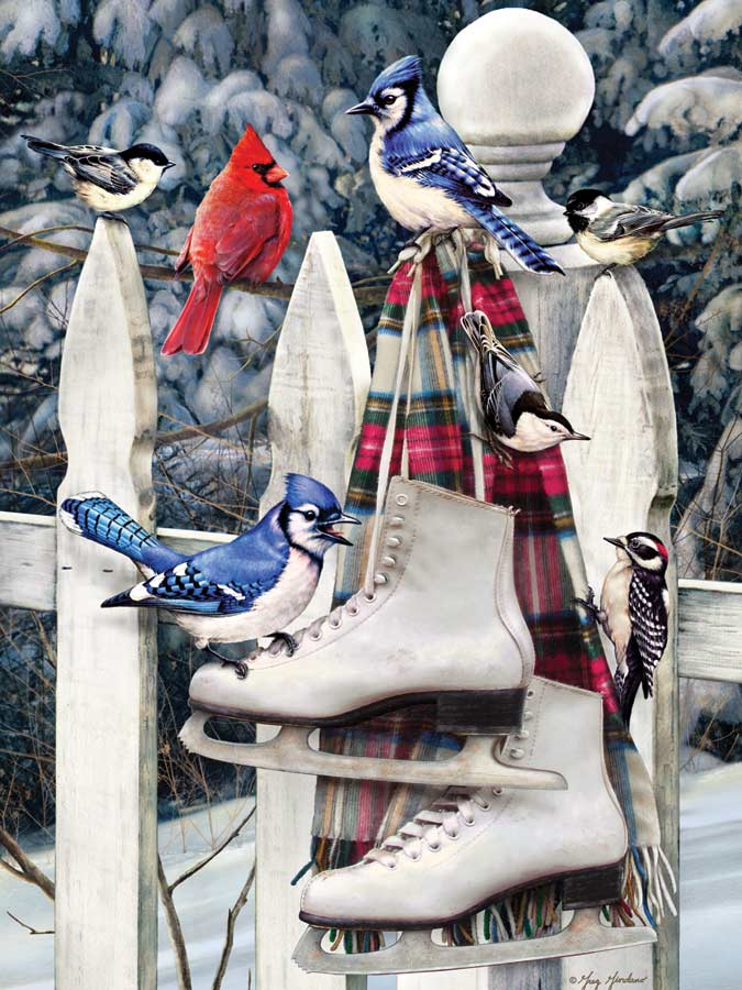 Birds with Skates Birds Jigsaw Puzzle