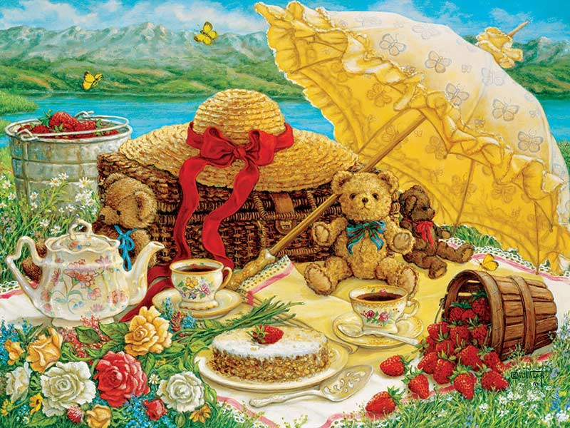 Teddy Bear Picnic Bears Jigsaw Puzzle