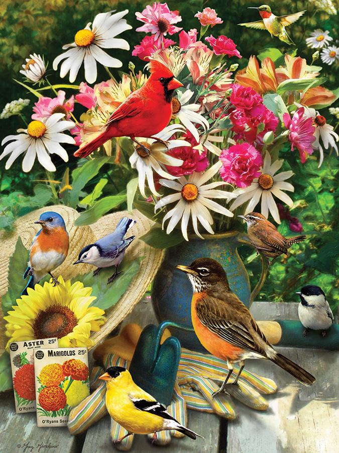 Garden Birds Birds Jigsaw Puzzle