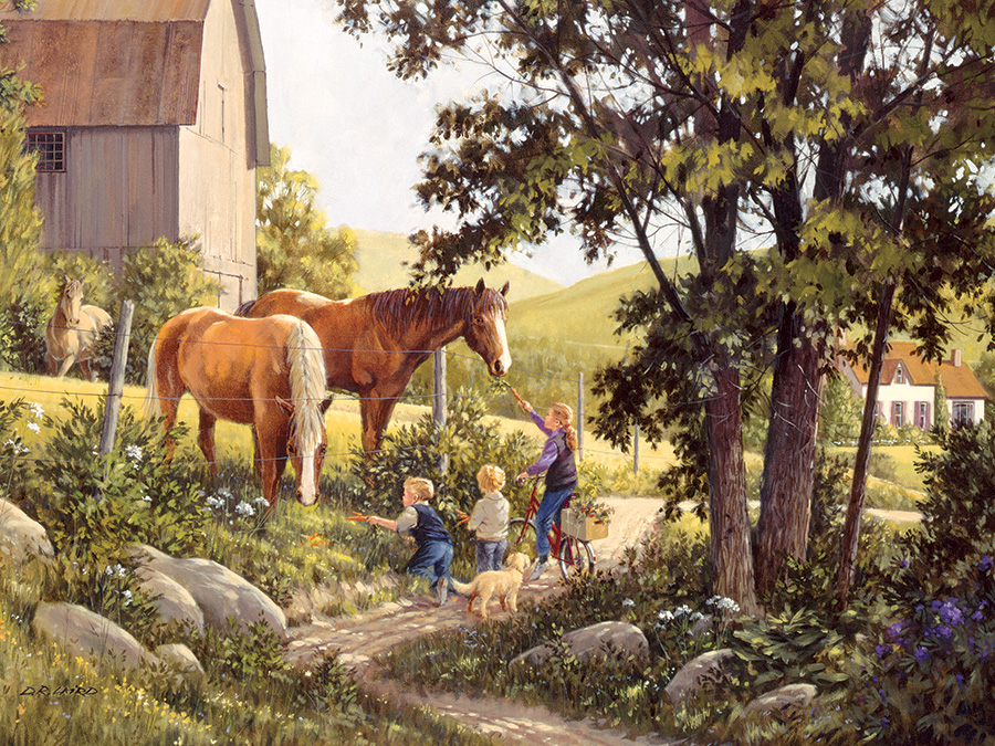 Summer Horses Countryside Jigsaw Puzzle