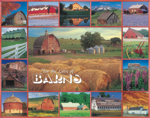 For the Love of Barns Farm Jigsaw Puzzle