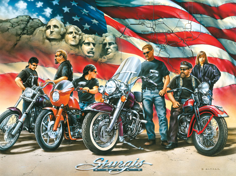 Sturgis Motorcycles Jigsaw Puzzle