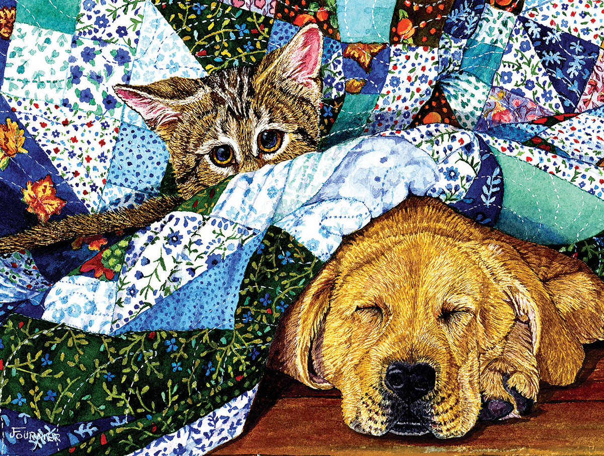 Quilted Comfort Crafts & Textile Arts Jigsaw Puzzle