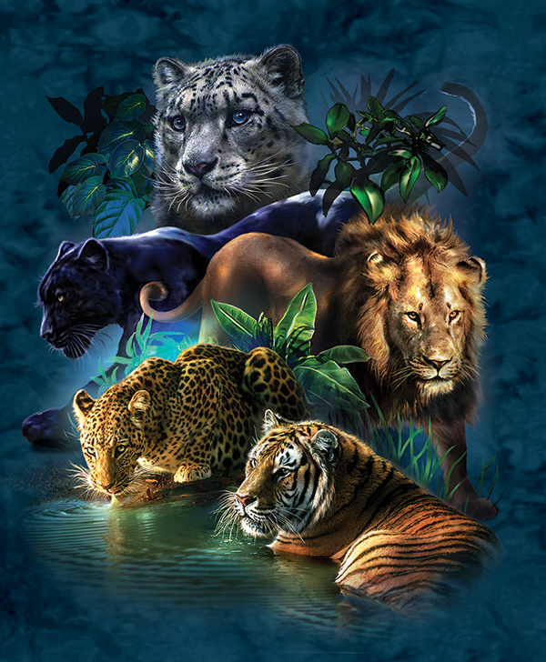 Big Cat Prowess - Scratch and Dent Jungle Animals Jigsaw Puzzle