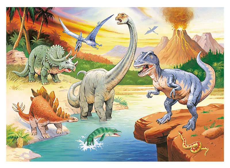 Age Of The Dinosaur Dinosaurs Jigsaw Puzzle