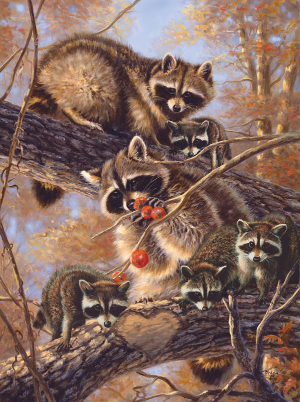 The Last Persimmons Wildlife Jigsaw Puzzle