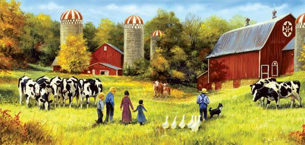 Feeding Time Farm Jigsaw Puzzle