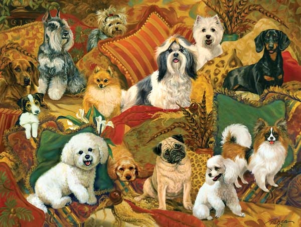 Pillow Puppies Dogs Jigsaw Puzzle