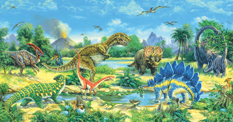 The Watering Hole Dinosaurs Jigsaw Puzzle