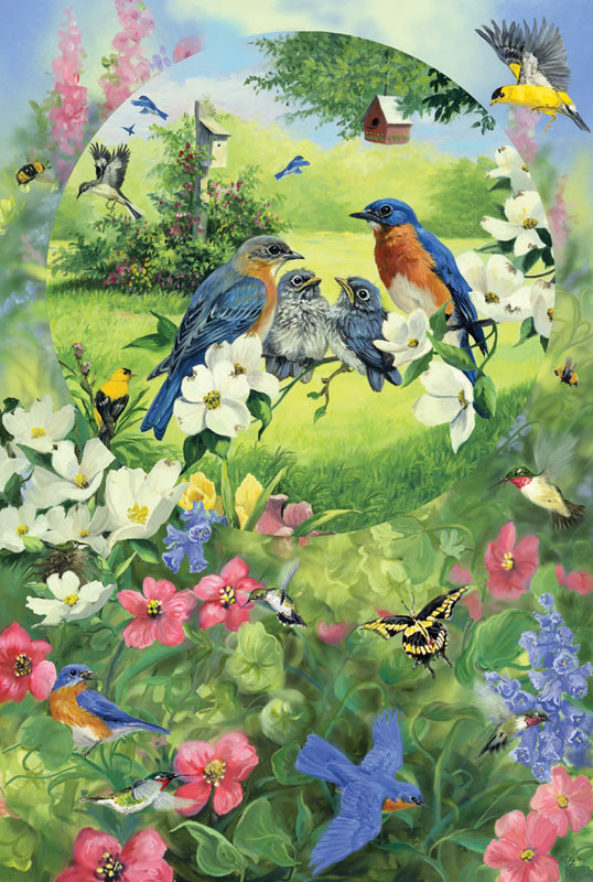 Garden Birds Garden Children's Puzzles