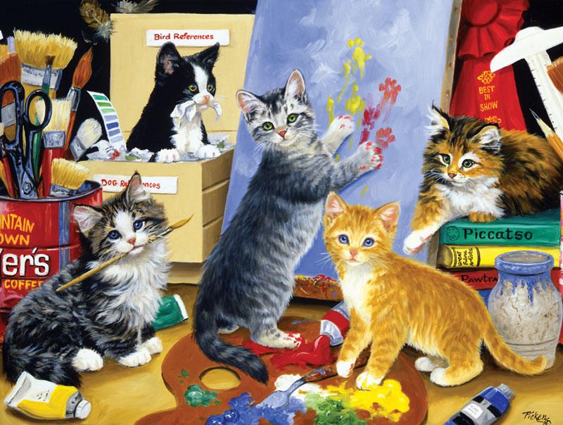 Studio Kittens Jigsaw Puzzle