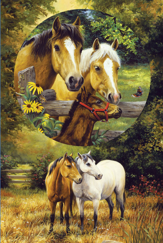 Country Horses Horses Children's Puzzles