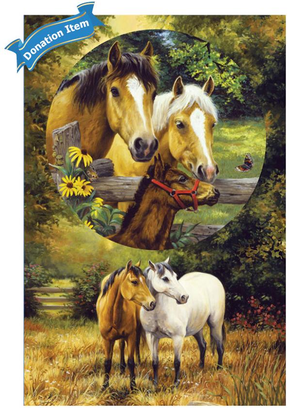 Life Skills - Country Horses Horses Family Puzzle