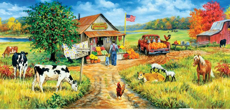 Aunt Fay's Market Farm Jigsaw Puzzle