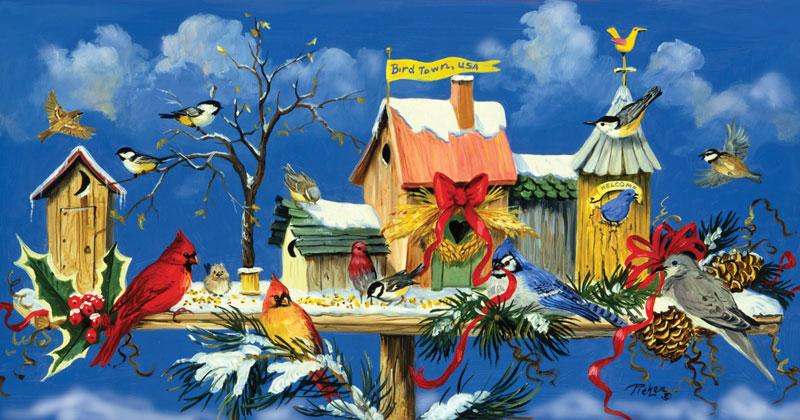 Birdtown Express Birds Jigsaw Puzzle