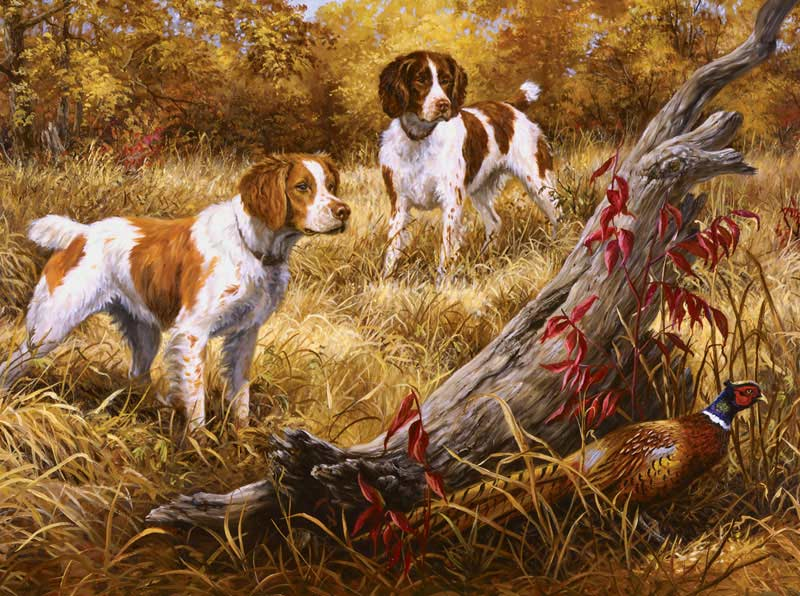Brittany Dogs Jigsaw Puzzle