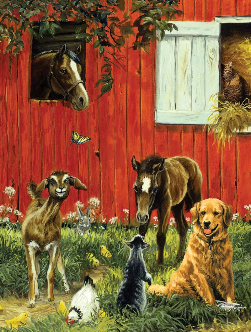 What's your name? Farm Animals Jigsaw Puzzle