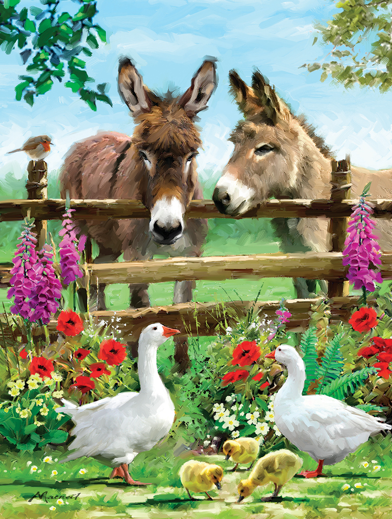 Fenceline Pals Animals Jigsaw Puzzle