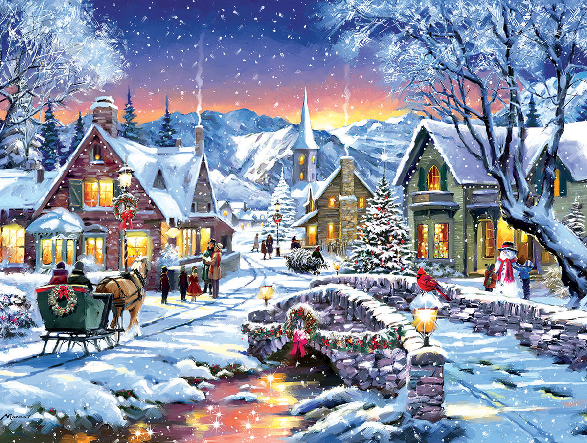 Tinsel Town Winter Jigsaw Puzzle