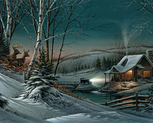 Evening with Friends Winter Jigsaw Puzzle