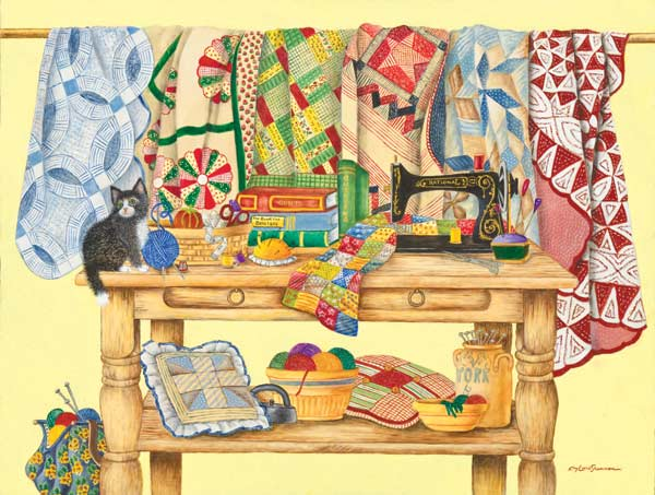 The Quilting Table Quilting & Crafts Jigsaw Puzzle