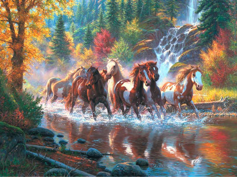 Born to Run - Scratch and Dent Horses Jigsaw Puzzle